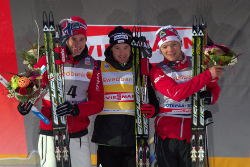 Meeste sprindi parimad. Vasakult: Ola Vigen Hattestad, Dario Cologna, Eirik Brandsdal