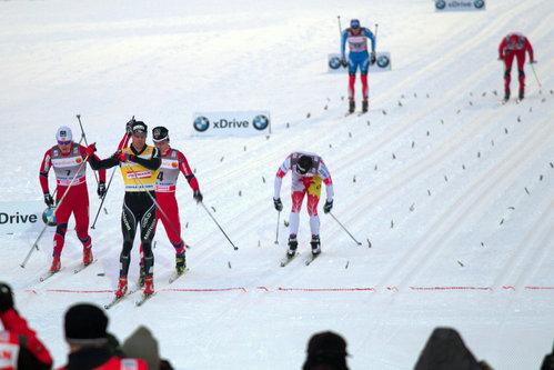 Meeste sprindi finaali finiš. Võitis Dario Cologna.